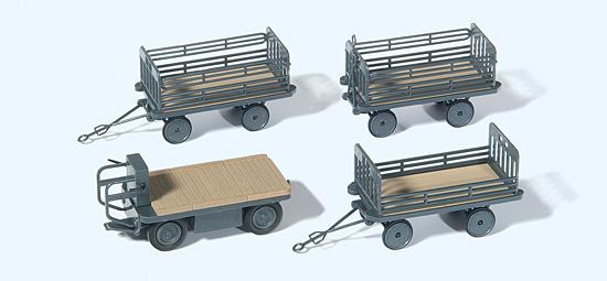 Elektrokarre mit 3 Anhängern, DB