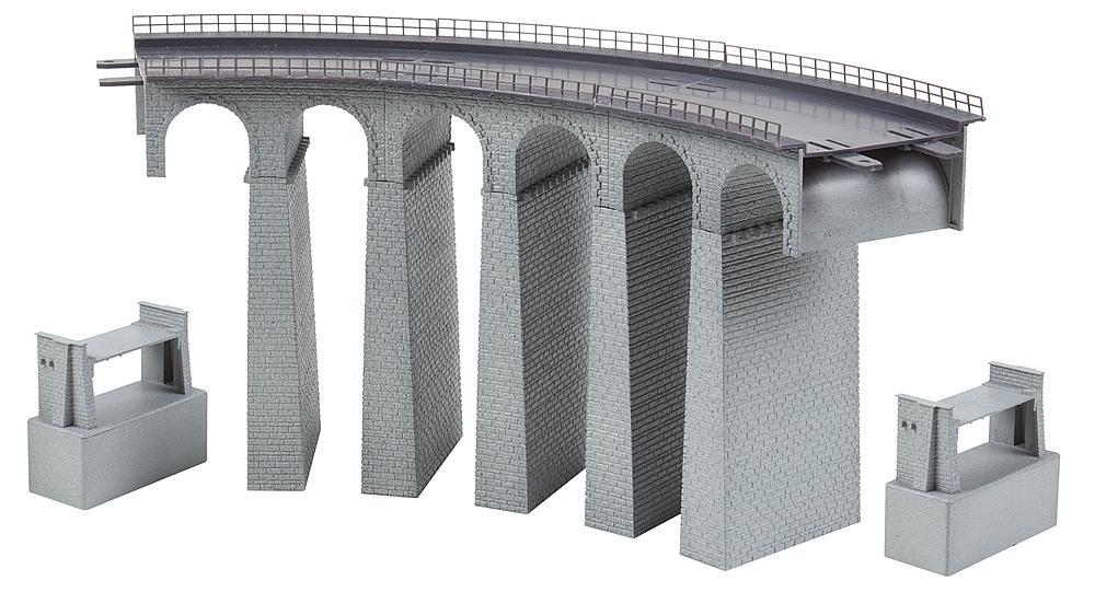 Viadukt-Set 2-gleisig, gebogen