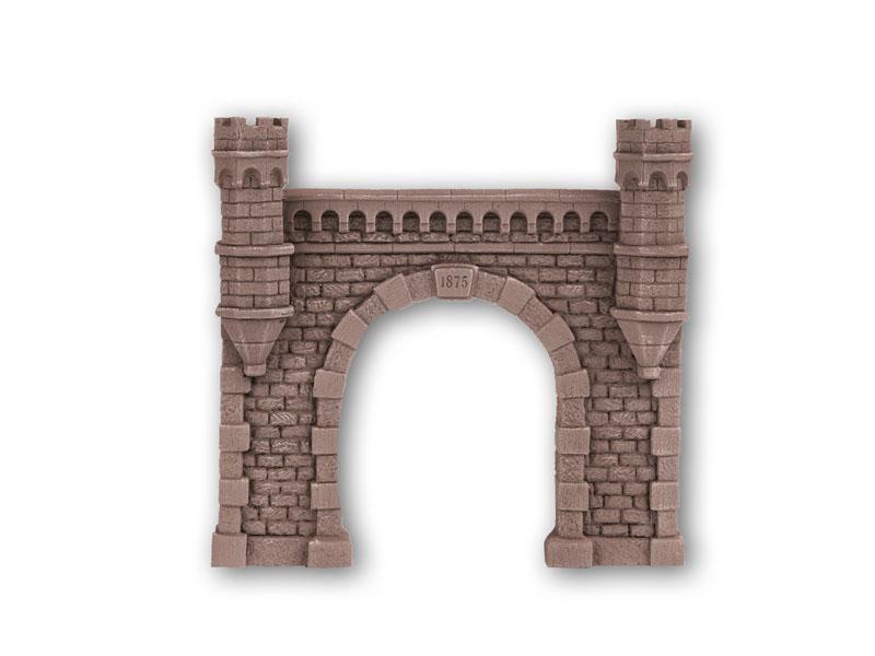 Tunnel-Portal, 1-gleisig