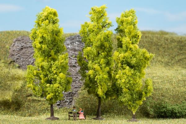 Laubbäume, hellgrün (3 Stück)