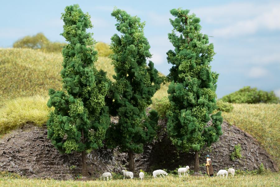 Laubbäume, dunkelgrün (3 Stück)