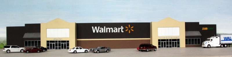 Walmart Supercenter Backdrop Building