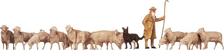 Schäfe, Hunde, Schafe