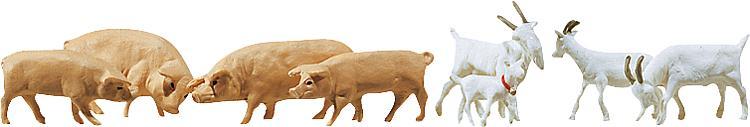 Ziegen und Schweine