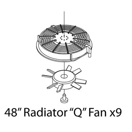 """48"""" Radiator """"Q"""" Fan (9)"""