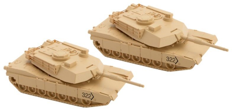 M1 Abrams Tank 2-pc kit