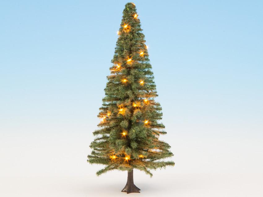 Beleuchteter Weihnachtsbaum grün