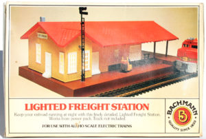 Lighted Freight Station