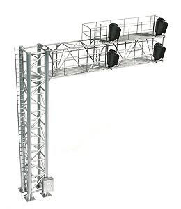 Modern Cantilever Signal Bridge (2 Track), 4 heads, LH