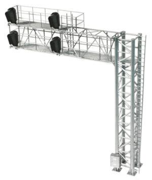 Modern Cantilever Signal Bridge (2 Track), 4 heads, RH