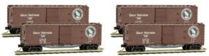 4x 40' Wood Boxcar