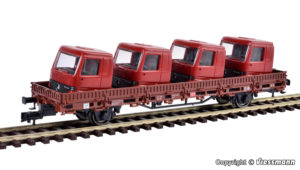 Niederbordwagen mit Fuehrerhaeusern