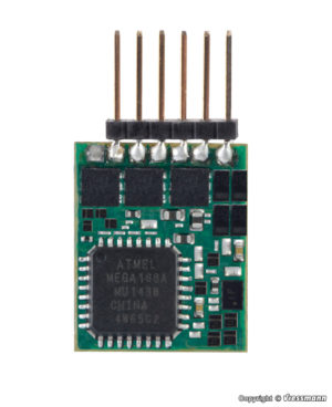 Lokdecoder mit Stiftleiste 6-polig