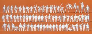 Auf der Arbeit (70 Figuren, unbemalt)