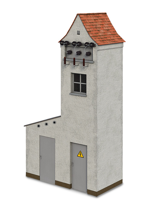 Altes Trafohaus, verputzte Version