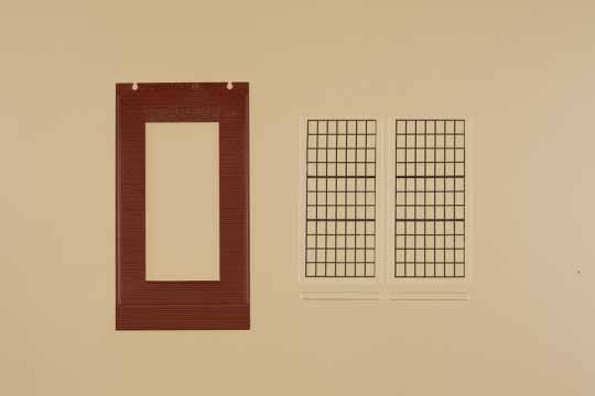 Waende 2578D rot, Industriefenster P