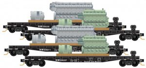 50' Flatcar w/load