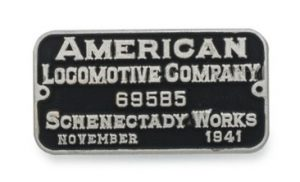 American Locomotive (ALCo) Builders Plate Pin
