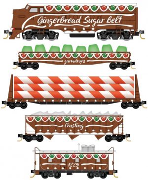 Gingerbread Sugar Belt Chrsitmas Set