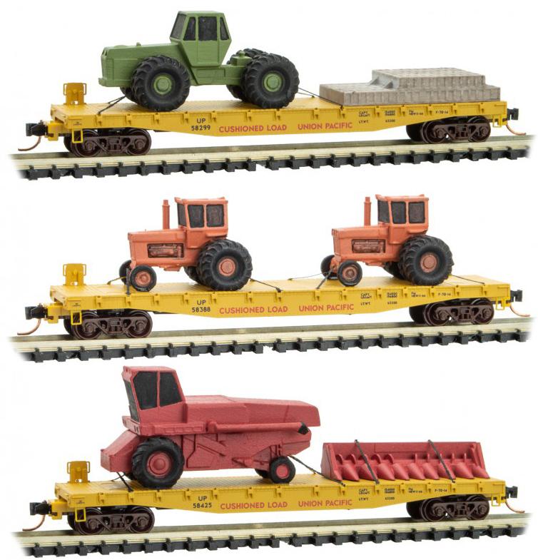 Union Pacific, w/Farm Equippment Load