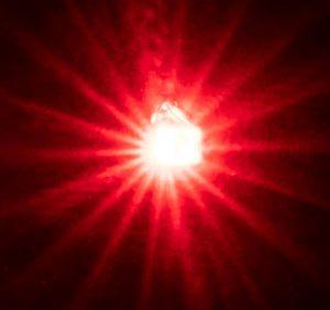 5 selbstblinkende LEDs, rot
