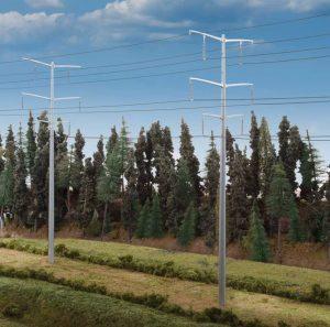 Modern High Voltage Transmission Towers