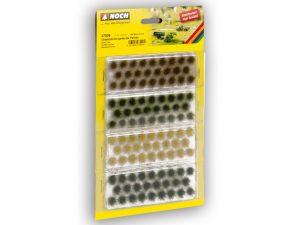 Grasbueschel XL dunkelgruen, mittelgruen, braun, gold-gelb
