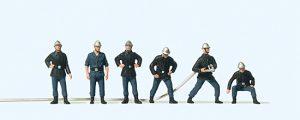 Feuerwehrmaenner Frankreich, alter Helm