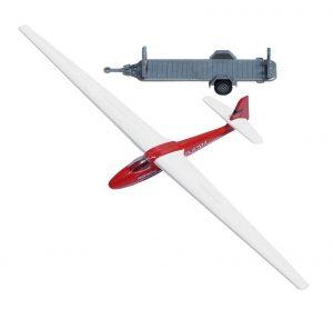 Segelflugzeug mit Anhaenger
