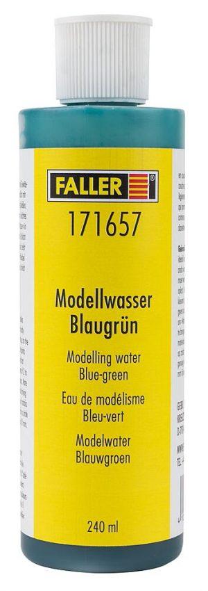 Modellwasser, blaugruen
