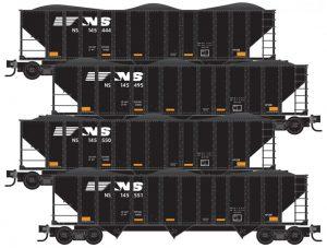 4x 100t 3-Bay Hopper w/load