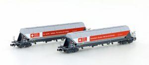 Silowagen-Set 2-tlg. - SBB / Schweizer Zucker