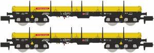 Niederbordwagen-Set 2-tlg. - DB Bahnbau