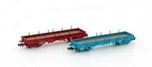 Niederbordwagen-Set 2-tlg. - SNCB