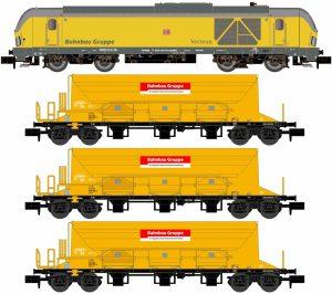 Zugset BR 247,  3 Schotterwagen - DB Bahnbau