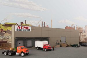 Modern Concrete Warehouse - Background Building