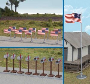 US 48-Star Flags & Mail Boxes