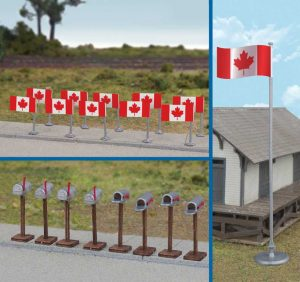 Canadian Flags & Mail Boxes