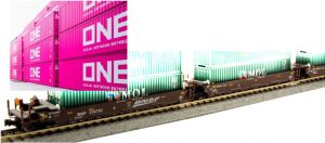 BNSF [swoosh] w/10 ONE container [magenta]