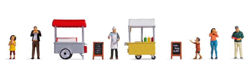 """Figuren-Themenwelt """"Eis- und Hotdog-Wagen"""""""