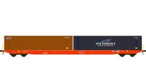 Containertragwagen - RCA / Beacon, NYK
