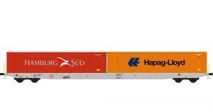 Containertragwagen - Boxxpress / Hamburg Sued, Hapag-Lloyd