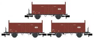 3er Set Holzwagen - SBB mit Logo