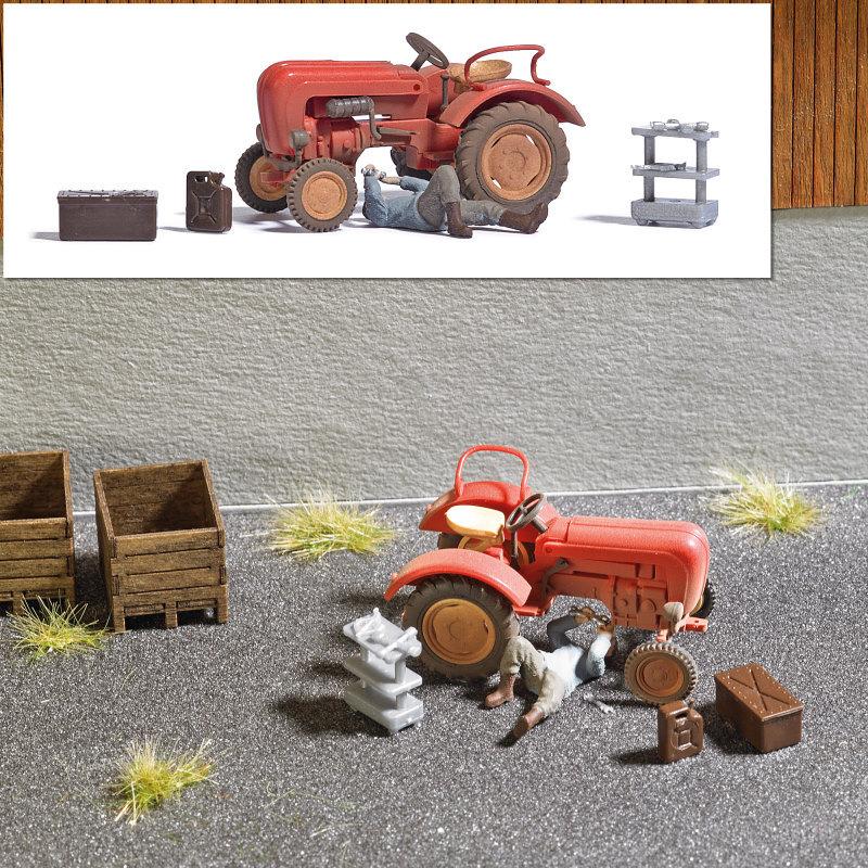 Traktorreparatur